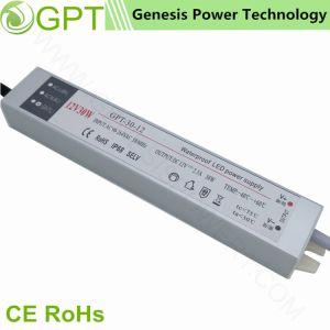 30W 12Vの切換えのモード防水屋外IP68の単一の出力LED軽い電源(金属のシェルの超細い電源)