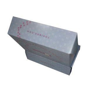 Mattlaminierung-blaues kundenspezifisches Firmenzeichen-gewölbter Verpackungs-Kasten