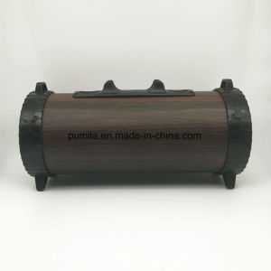 Haut-parleur Bluetooth sans fil portable en bois de basse Le président de la batterie rechargeable intégrée