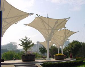 Ptef paraguas estructura estructura de membrana de tracción
