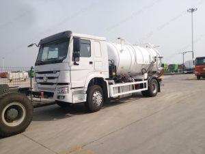 HOWO 5m3 4X2の真空の下水のトラックの下水の吸引のタンク車