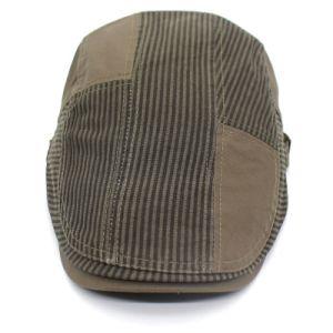 重い綿の物質的なロゴの刺繍のNewsboyの帽子