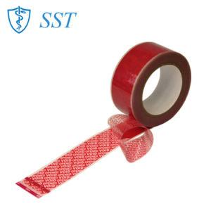 Total de transferencia adhesiva de silicona de sellado de cajas de cartón cintas de seguridad