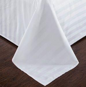 300tc Plain le lenzuola bianche del raso dell'hotel del cotone & lo strato misura (JRD797)