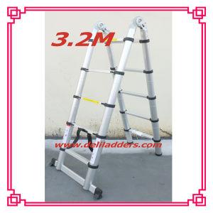 3位置Telescopic Ladder 3.2m