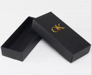 Het zwarte Vakje van de Gift van de Lade van het Document van Kraftpapier