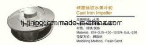 La producción de fundición de hierro del impulsor de bomba