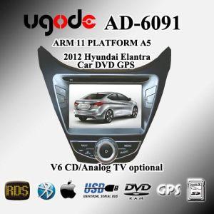 Braccio di UGO -Dush nel giocatore dell'automobile DVD GPS per Hyundai 2012 Elantra (AD-6091)