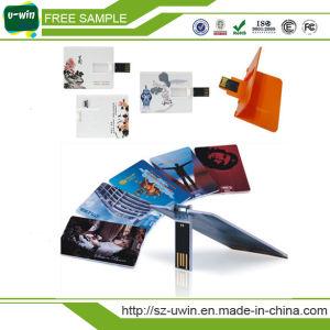 フルカラーの印刷プラスチッククレジットカードUSBのフラッシュ駆動機構(UW-072)
