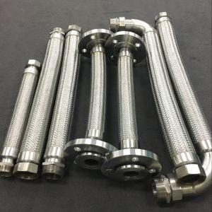 Papelão Ondulado trançada mangueiras metálicas flexíveis/tubos/tubos com o flange de montagem ou