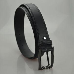 Parte superiore nera che vende la cinghia di cuoio genuina degli uomini scarni (B-05)
