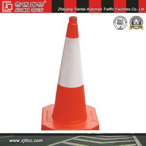75cm Soft Orange cône réfléchissant en caoutchouc pour la sécurité du trafic (CC-A27)