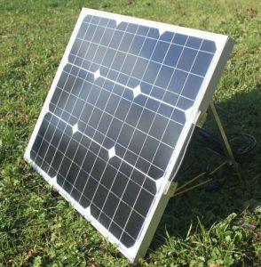 80W Складная солнечная панель для кемпинга с ног