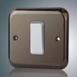 10A 1 Piste 1 interrupteur interrupteur mural