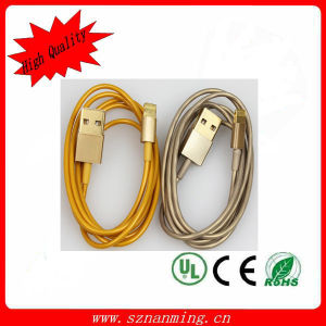 USB Data Cable di Champagne per il iPhone Lightning Connector (NM-007)
