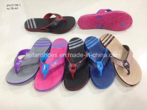 Женщин для использования внутри помещений сандалии Шлепанцы тапочки из ПВХ (YG828-4)