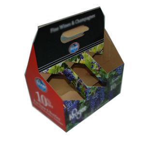 Caselle su ordinazione riciclabili di uso del vino del pacchetto delle bottiglie del documento sei di marchio con la maniglia