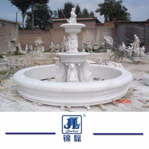 自然な中国の花こう岩の大理石の石3屋外の庭及びLandcapingのための段になった水球の噴水