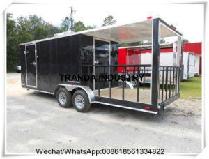 Kiosk van de hotdog duwde de Vrachtwagen van het Gebraden gerecht in China wordt gemaakt dat