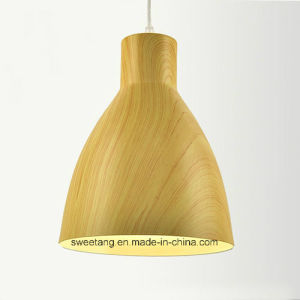 木製カラーの装飾の軽いシャンデリアのペンダント灯