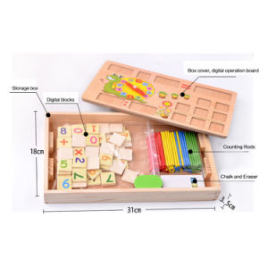 Rompecabezas de enseñanza de madera de la educación del bebé del tablero de dibujo de la matemáticas de Montessori juguetes de desarrollo