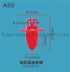 Fabricado em Taiwan guarnição de carro de plástico cinzento encaixar o retentor de plástico de fixação da guarnição do tipo push Clipe de Proteção do Paralama