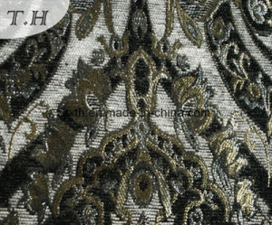 Grande tessuto del jacquard 2016 nel tessuto del sofà del Chenille (FTH31619)