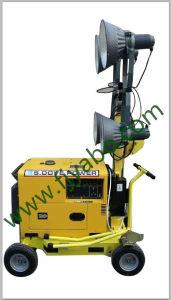 Torre de iluminação Mobil silenciosa do conjunto de geradores diesel 5KW
