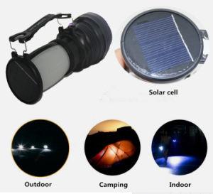 テントLEDの軽いキャンプ場ランプの緊急事態をハイキングする携帯用多機能の太陽屋外のキャンプの懐中電燈のランタン