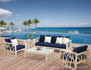 Perfecto Diseño de Muebles de aluminio con cojín Home Lampedusa Salón Muebles de jardín Set