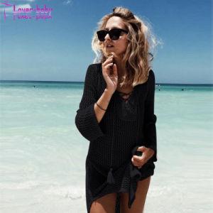 La dentelle-jusqu'au cou robe longue Fishnet Beachwear L384944