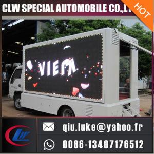 JAC LED che fanno pubblicità al camion, trasportano la visualizzazione su autocarro di LED di pubblicità mobile