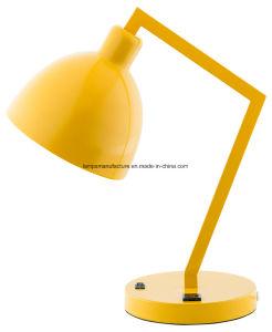 Terminada la lámpara de escritorio de color amarillo para la habitación de los niños