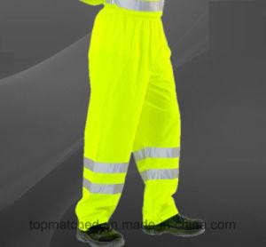 Comercio al por mayor seguridad en cinta reflectante de alta visibilidad pantalones de trabajo