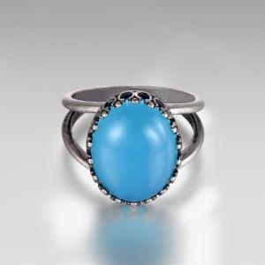 Opal ovalada Anillo de joyas de plata
