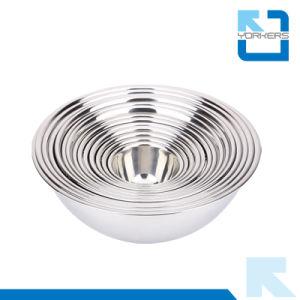 Aço inoxidável Multi-Size de alta qualidade da câmara de mistura profunda Taça Tempero Salada Bowl