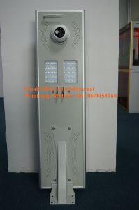 Fabricante de LED Solar lámpara de exterior de la calle con cámara CCTV