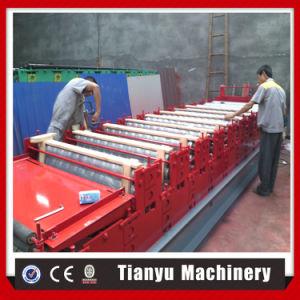 Toit de tuiles trapézoïdal double couche machine à profiler C8+C21