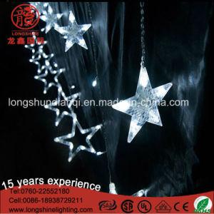 Colorido LED luces de Navidad Estrella de la cadena de la luz de la cortina para el Ramadán decoración exterior
