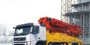 자동차 24-53m 트럭에 의하여 거치되는 구체 펌프 트럭