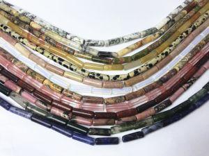 Il tubo semiprezioso della pietra preziosa borda la fabbrica allentata Wholsale di Jewllry di modo del filo di 4-20mm
