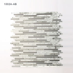 Il nero rispecchiato di Finishend di cristallo e mattonelle di mosaico del nastro