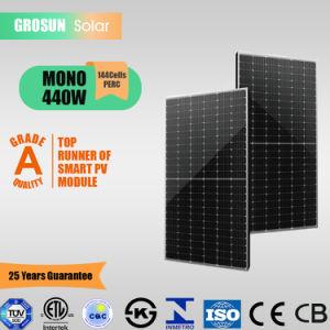 Precio competitivo de las células Grosun 144 Panel Solar monocristalino de 440W (9BB)