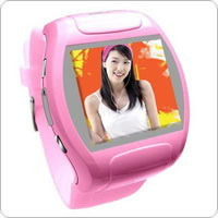 Telefoon van de Cel van het Horloge van het Scherm van de aanraking de Video met Bluetooth en Camera