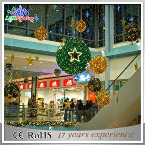 Luces de la bola del adorno de la Navidad de la fábrica LED 3D de la decoración del día de fiesta