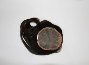 Het Gebonden Toupetje van 100% Remy Hand voor de Mannen van Vrouwen, het Natuurlijke Kijken