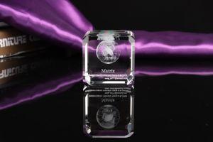 Laser 3D gravieren Firmenzeichen-Kristallwürfel (KS01089)