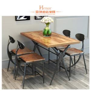 Mesa de madeira maciça e cadeira / sala de jantar móveis