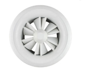 Sistema de Ventilação VAC Ronda Ajustável tecto Parede difusores de ar da borboleta de turbulência