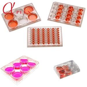 Lab 96 puits tissu stérile jetable en plastique les plaques de culture cellulaire